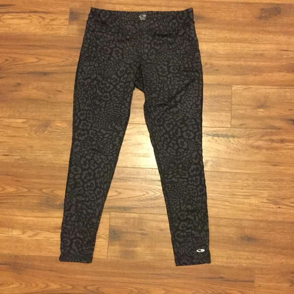 b940ad7df5506 Champion Pants | Leopard Print Workout Leggings | Poshmark